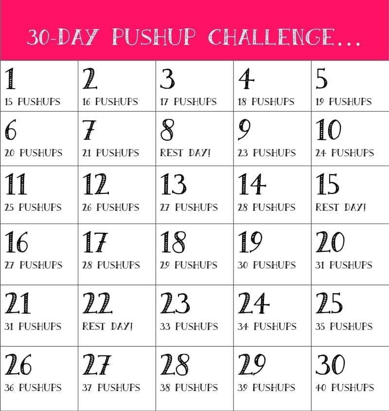 30-Day Push-Up Challenge