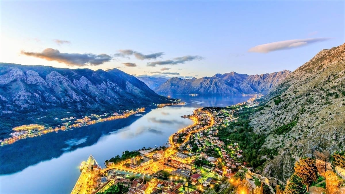 Bay Of Kotor city view