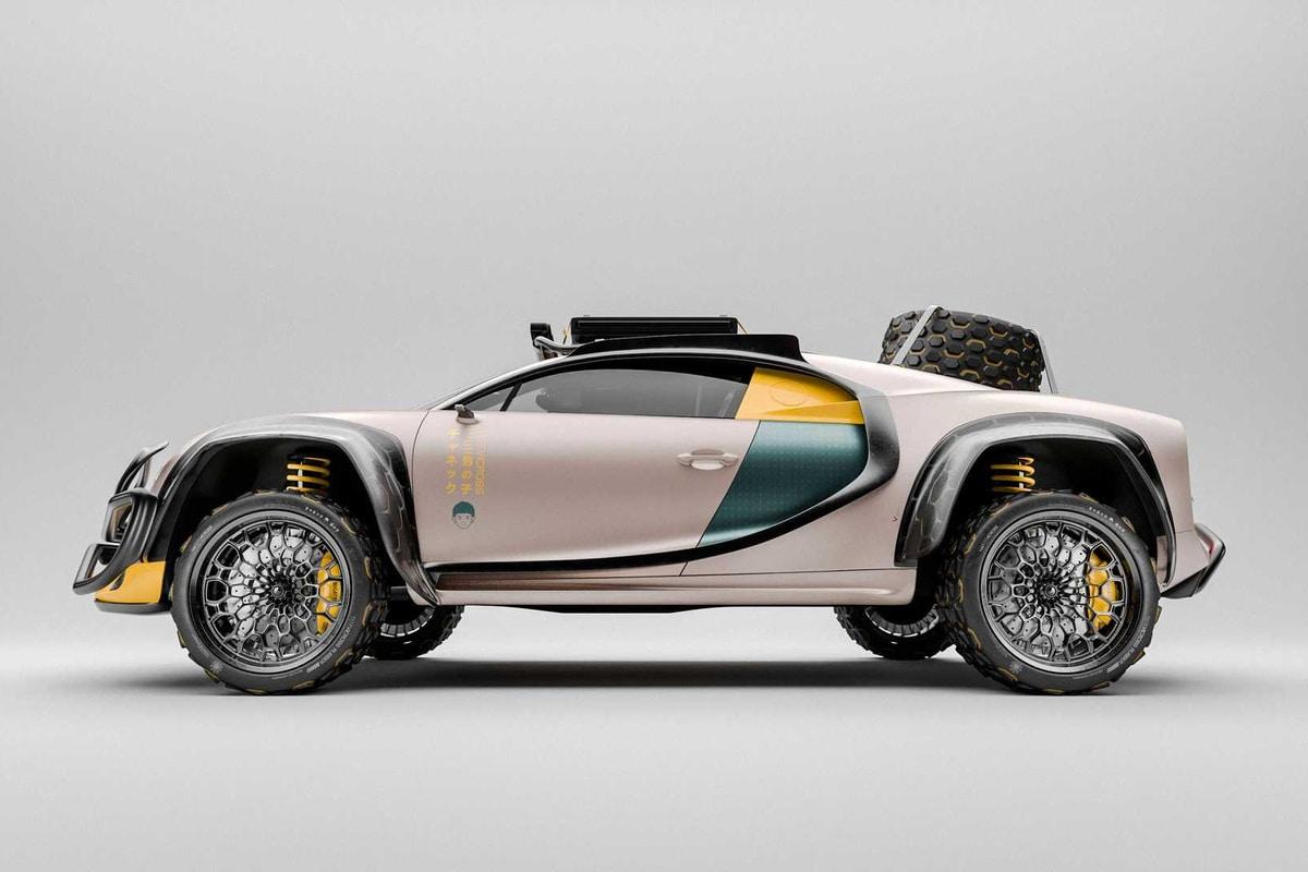 Bugatti Chiron Terracross sideview